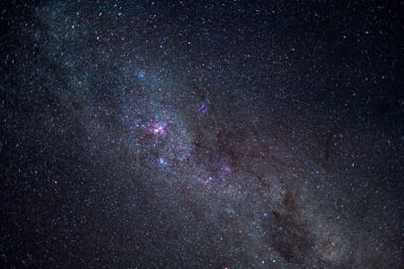 Close up, Milky way with galaxy star and space  dust at night. Lake Tekapo, South Island, New Zealand,