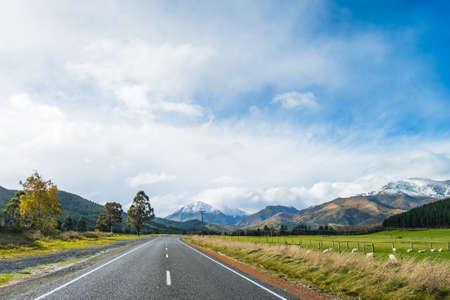 A road to the snow mountain. Fiordland, New Zealand.