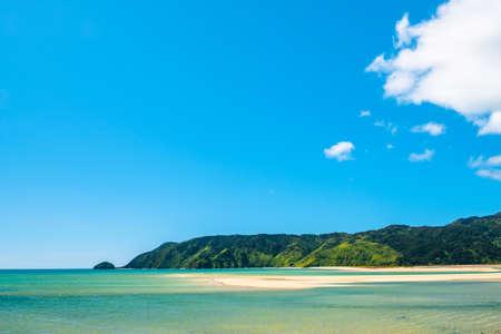 A beautiful beach along the coastline in Abel Tasman National Park, South Island, New Zealand. 写真素材