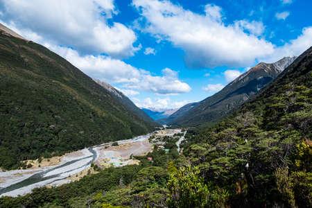 Beautiful scenery in Arthur Pass National park, New Zealand.