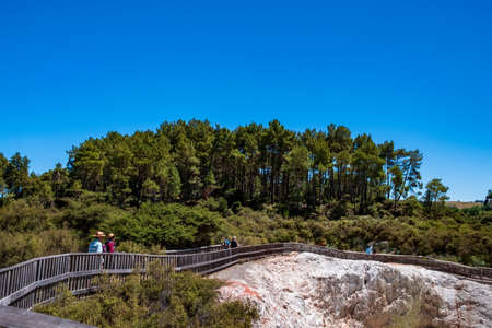 Beautiful scenery of thermal land, Rotorua, North Island,  New Zealand..