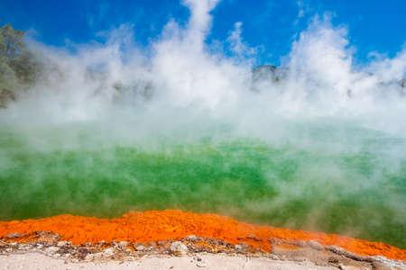 Beautiful scenery of thermal land, Rotorua, North Island, New Zealand..