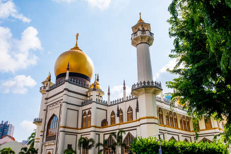 2019 March 1st, Singapore, View of Masjid Sultan in a beautiful day.