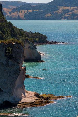 Chathdral cove, Coromandel, New Zealand North Island travelling destination in a beautiful day..