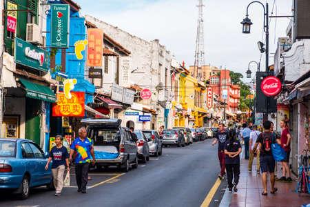 2019년 5월 8일, 말레이시아, 멜라카 - 낮 시간에 도시의 건물과 건축물의 전망.. 에디토리얼