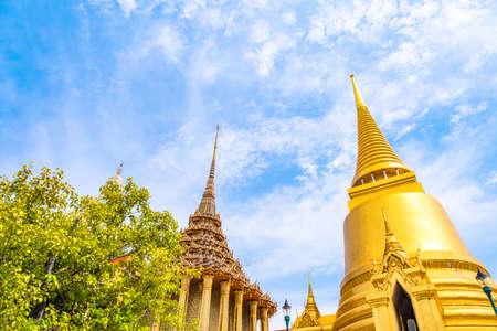 Wat Phra Kaew, Temple of the Emerald Buddha. Bangkok, Thailand.