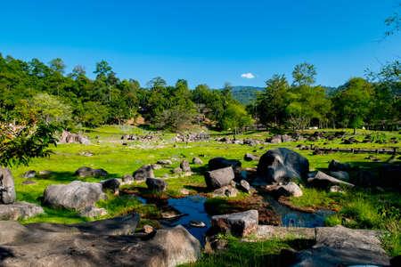 Hot Springs at Doi Pha Hom Pok National Park, Fang, Chiang mai, Thailand. Banque d'images