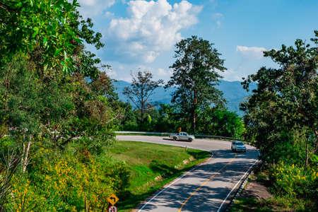2019, November 20th, The remarkable Curves road to Pai , Mae Hong Son, Thailand.