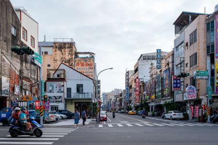 October 3rd, 2019 - Taiwan, Taipei, A crowded traffic scene in the city.