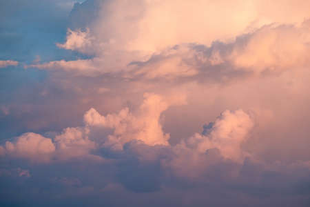 Blue sky with white clouds background. Panorama view. Stock fotó