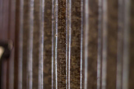 grooved: Zinc background Stock Photo