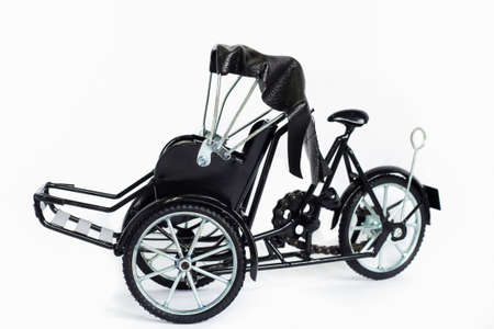 mototaxi: The split tricycle white background.