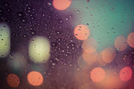 Rain and bokeh background Foto de archivo