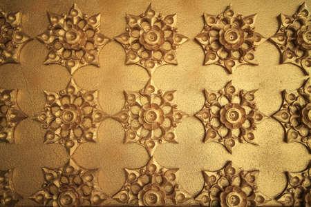 chaimongkol: Walls made of gold  Wat Chaimongkol Roi Et hold on Thailand.