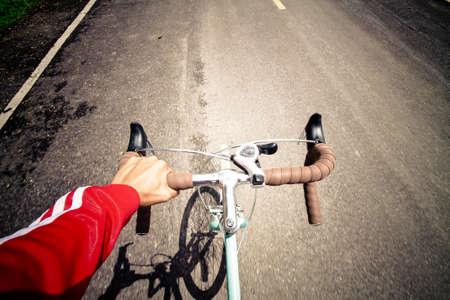 Motion blur cyclist