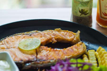 salmon steak: Salmon steak Stock Photo