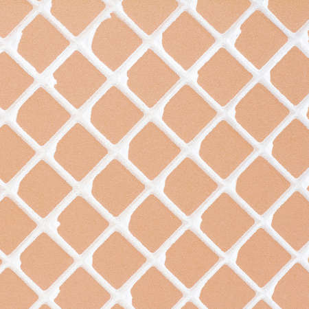 dialectic: Rear orange tile background.