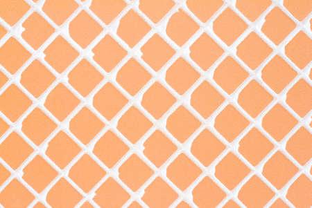dialectic: Rear orange tile background.