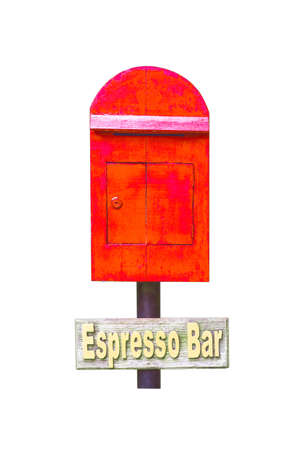 postbox: Postbox red isolated white background Stock Photo