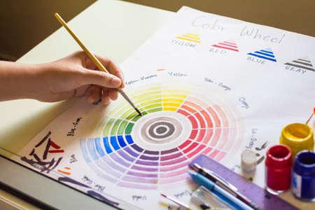 Colour wheel paint. Stock Photo