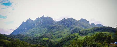 Natural Panorama of Doi Luang Mountain in Chiang Dao Province It is the highest mountain in Thailand. Doi Luang Chiang Dao, good weather, winter season