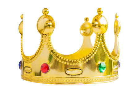 The Glod Kings crown  isolated  white background