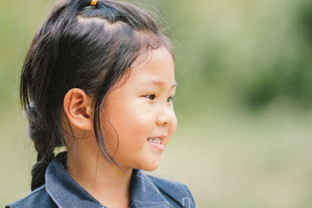 Portraits, children, people of Asian smiling and laughing happily.