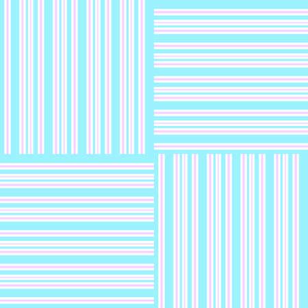 Blau und Rosa, horizontale vertikale Streifen abstrakt Background.vector illustration