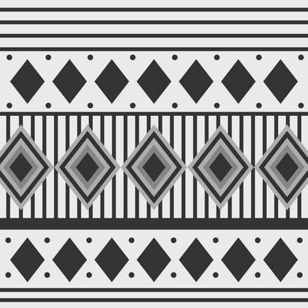 Black and white arabesque Geometric design background card for Ramadan Kareem.Vector illustration. Ilustração
