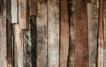 Old brown of panel wooden texture abstract background