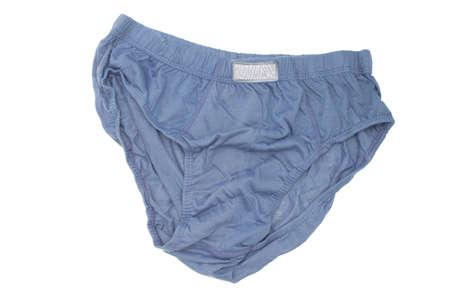 blue of men underwear isolated white background Reklamní fotografie