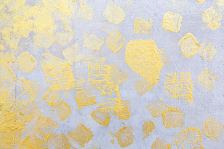 The gold of leaf on Silver color wall abstract texture background