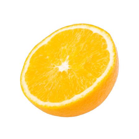 freshness  sliced orange fruit isolated white background