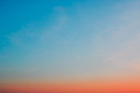 Twilight sky with cloud and colorful sunset nature abstract  background Foto de archivo