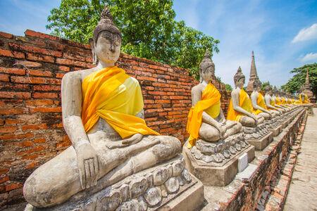 Budda images - Ayuttaya Thailand photo
