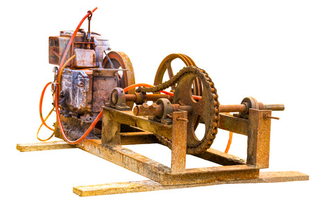 converts: Electric generator is a device that converts mechanical energy to electrical energy  Stock Photo
