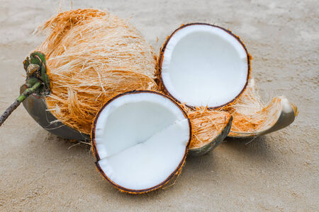 Crack Coconut and Fresh coconut photo