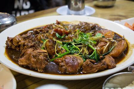 Korean chicken food Stok Fotoğraf