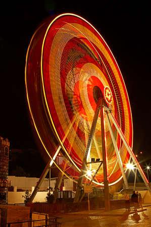 Ferris wheel at night in the Europe photo