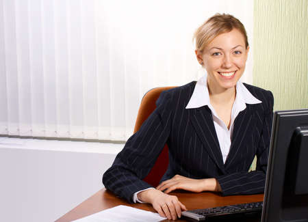 The business woman in an office Stock Photo