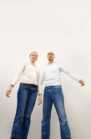 A man and a woman standing together photo