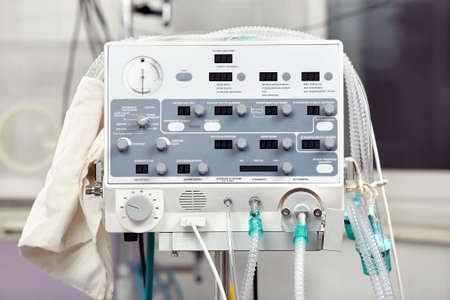 Close up of the volume ventilator for newborns