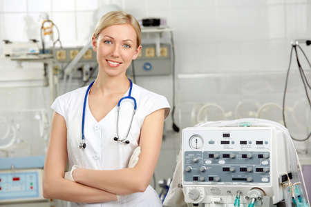 gloves women: The beautiful doctor costs near to the volume ventilator