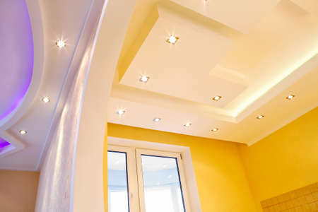 ceiling lamp: Photo of the shined ceiling with original design