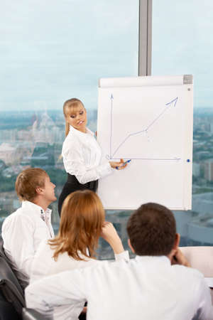 Presentation of the business plan at office Stock Photo - 5057099