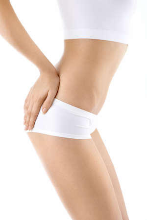 Close up - a side view of area of the female body, isolated Stock Photo - 5536402