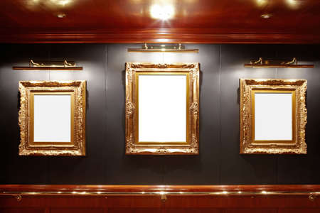 Gallery with blank frames Stock Photo - 6167120
