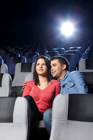 The young enamoured couple looks a film Stock Photo - 7841762