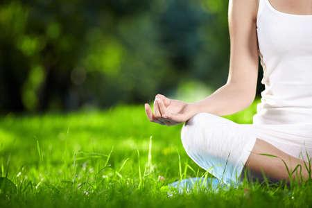 respiration: Dans la posture de lotus fermer