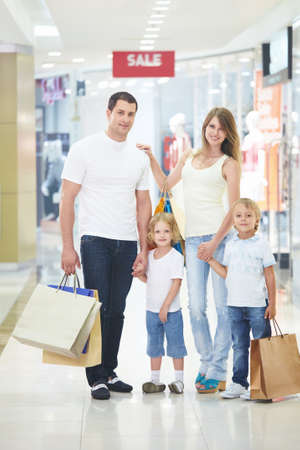Young families with children in the shop Stock Photo - 7944666